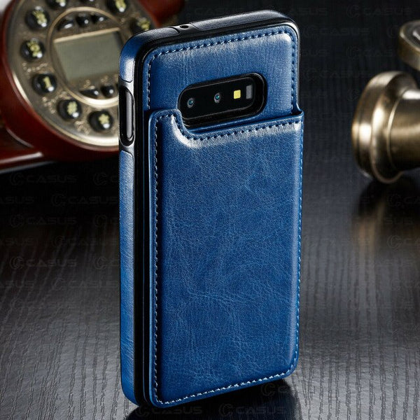 Luxury Shockproof Armor Leather Wallet Magnet Flip Case For Samsung Note 10 pro S10 plus S10 lite S10 Note 9 8 S9 S8 Plus