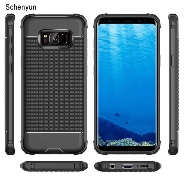 Luxury Carbon Fiber Case for Samsung Galaxy S10 plus S8 S9 plus S7 Note 8 9