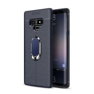 Phone Case - Magnetic Bracket Stand Finger Ring TPU Case for Galaxy S8 S9 Plus S10 Plus