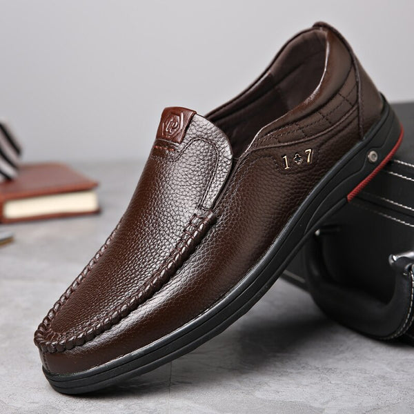 Shoes - Men's Casual Leather Shoes with Soft Sole (Buy 2 Get 5% OFF, 3 Get 10% OFF)