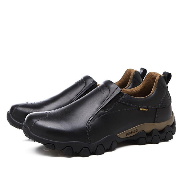 Men's Shoes - Waterproof Quality Genuine Leather Anti-Skid Casual Flats