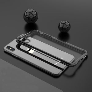Phone Case - Plated Frame Airbag Anti Knock Drop Resistant Cases for iPhone X XS Max XR