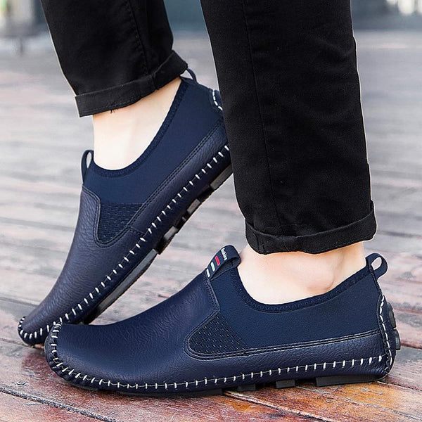 Plus size Men Slip-on Leather Comfy Shoes
