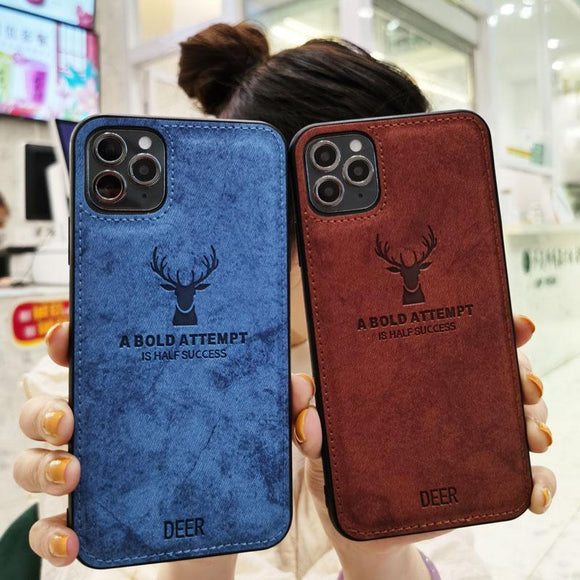 Silicone Fabric Cloth Deer Case for Iphone(BUY 2 GOT 10% OFF, 3 GOT 15% OFF)