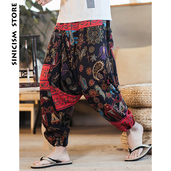 Pants - Harem Pants Men 2019 Streetwear Harajuku Loose Flora Pants ( Buy 2 Get extra 5% off,Buy 3 Get Extra 10% off )