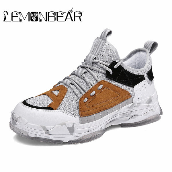 Shoes - Men's Vulcanized Shoes Mesh Breathable Casual Shoes
