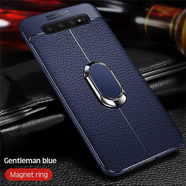Luxury Shockproof Ultra Thin Soft Silicon Anti-knock Phone Case + Strap +Ring For Samsung Note10 Note10 Plus S10 S10Plus S10E Note 9/8 S9 S8/Plus