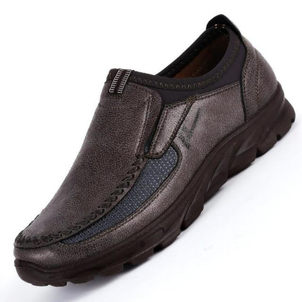 Men's Shoes - Casual Quality Leather Loafers Slip-on Shoes