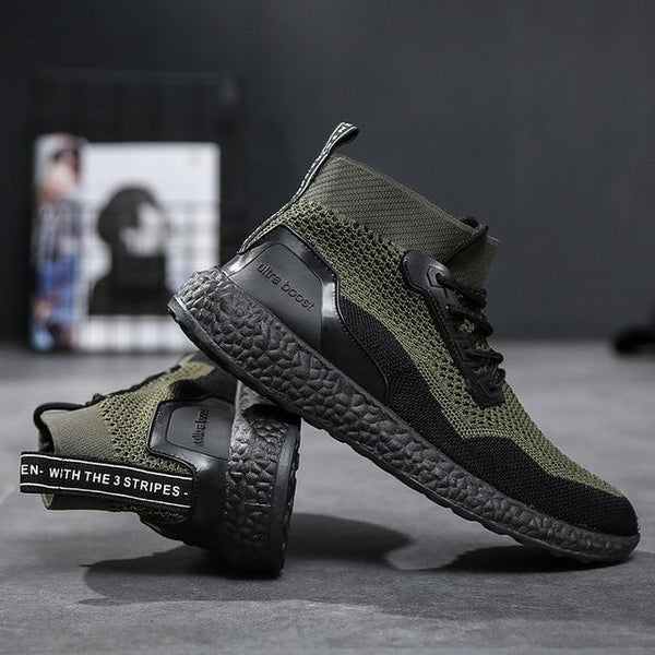 Breathable Mesh Lace Up Sock Trainers Sneakers
