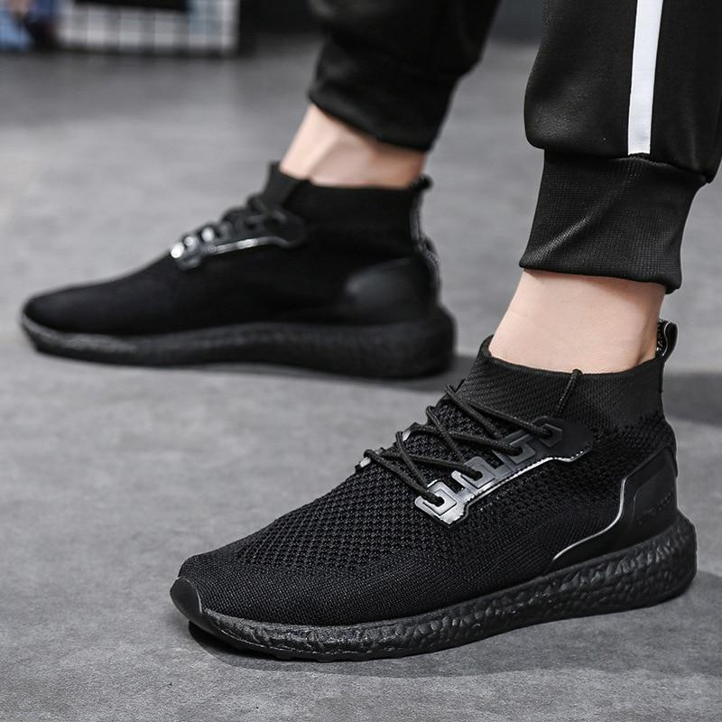 Breathable Mesh Lace Up Sock Trainers