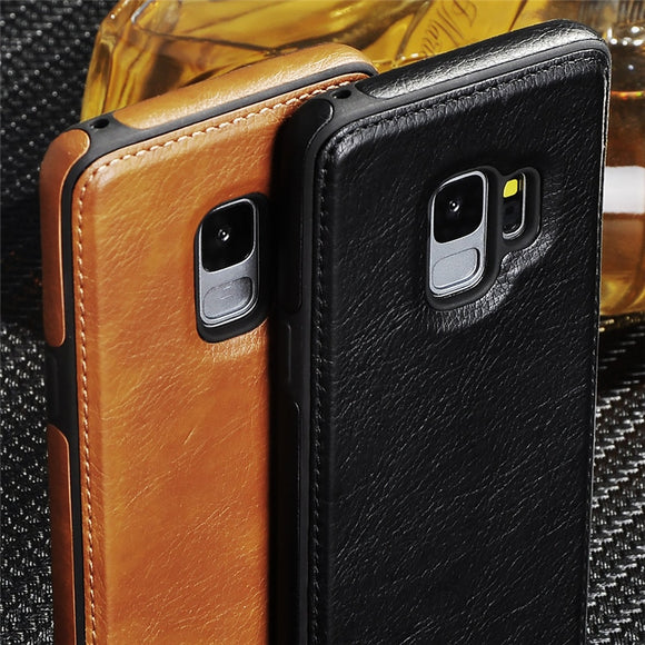 Vintage Leather Flip Case for Galaxy S9 S8 S8 Plus S10 Lite Note 9 (Buy 2 Get 5% OFF, 3 Get 10% OFF)