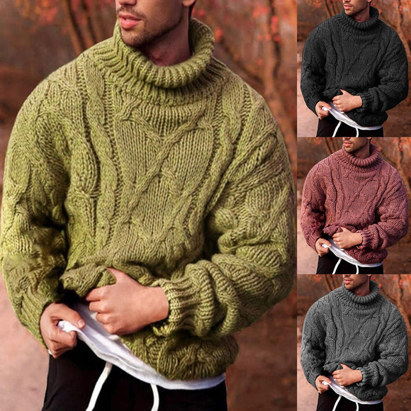 Men Pullover Autumn Winter Warm Thick Sweater