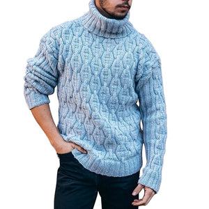 Cotton Sweater Knitted Warm Pullovers Jumper For Male