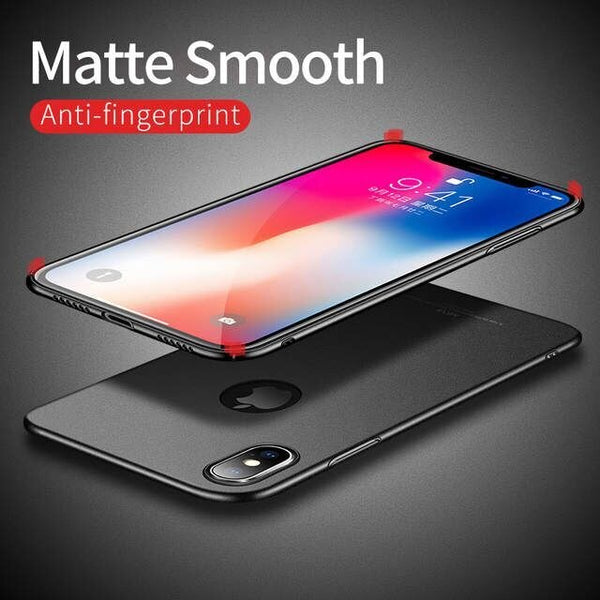Luxury Ultra Thin Anti-fingerprint Shockproof Business Protect Case For IPhone X XS Max XR 6 6s 7 8(Buy 2 Get 5% OFF, 3 Get 10% OFF)