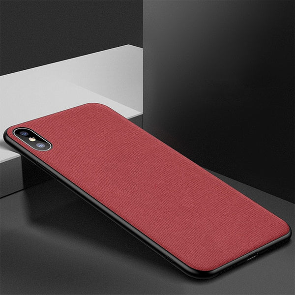 Ultra-thin Soft Silicone Cloth Texture Phone Case For iPhone X Xs Xr Xs Max 6 6s 7 8 Plus