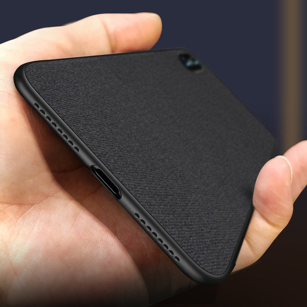 Luxury Ultra-thin Soft Silicone Cloth Texture Phone Case For iPhone X Xs Xr Xs Max 6 6s 7 8 Plus