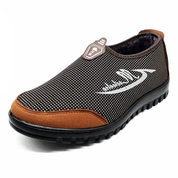 Men's cotton Safety walking Warm Shoes