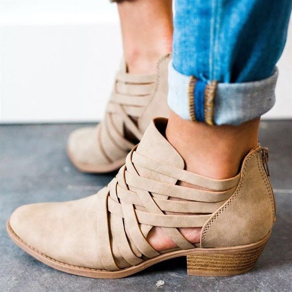 Cute Comfortable Solid Roman Simple Boots
