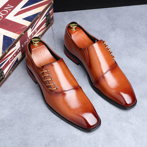 Fashion Classic Leather Business Dress Men Oxfords Shoes(Buy 2 Get 10% off, 3 Get 15% off )