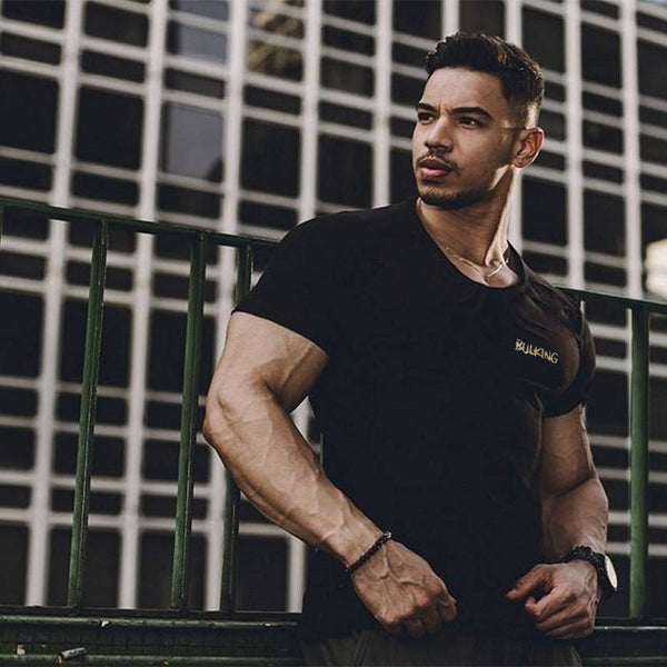 Men's Clothing - Men Short Sleeve Casual Fashion Fitness T shirt (Buy one Get one 20% OFF)