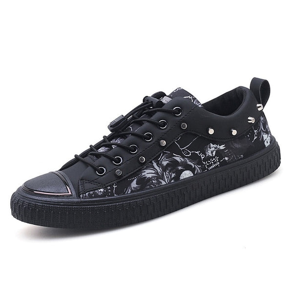 Fashion Men Casual Lace Up Leather Outdoor Shoes