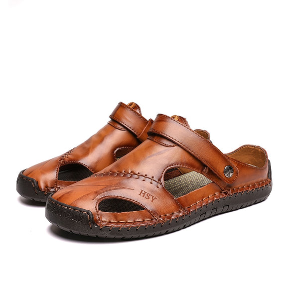 Big Size Casual Men Comfortable Men Summer Leather Sandals