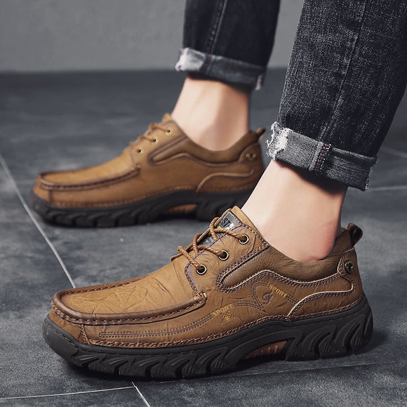 Hot Sale High Quality 100% Genuine Leather Comfortable Men's Casual Slip On Shoes