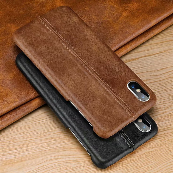 Vintage Sewing Leather Cover for iPhone X XS XR XS Max-1