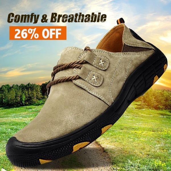 dc9bba80d7f9 Shoes - Men s Leather Slip-resistant Outdoor Casual Hiking Shoes(Buy 2 Got  10