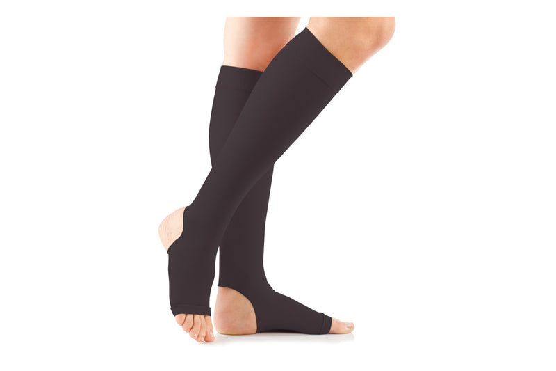 Premium Opq Moderate Open Toe Knee High