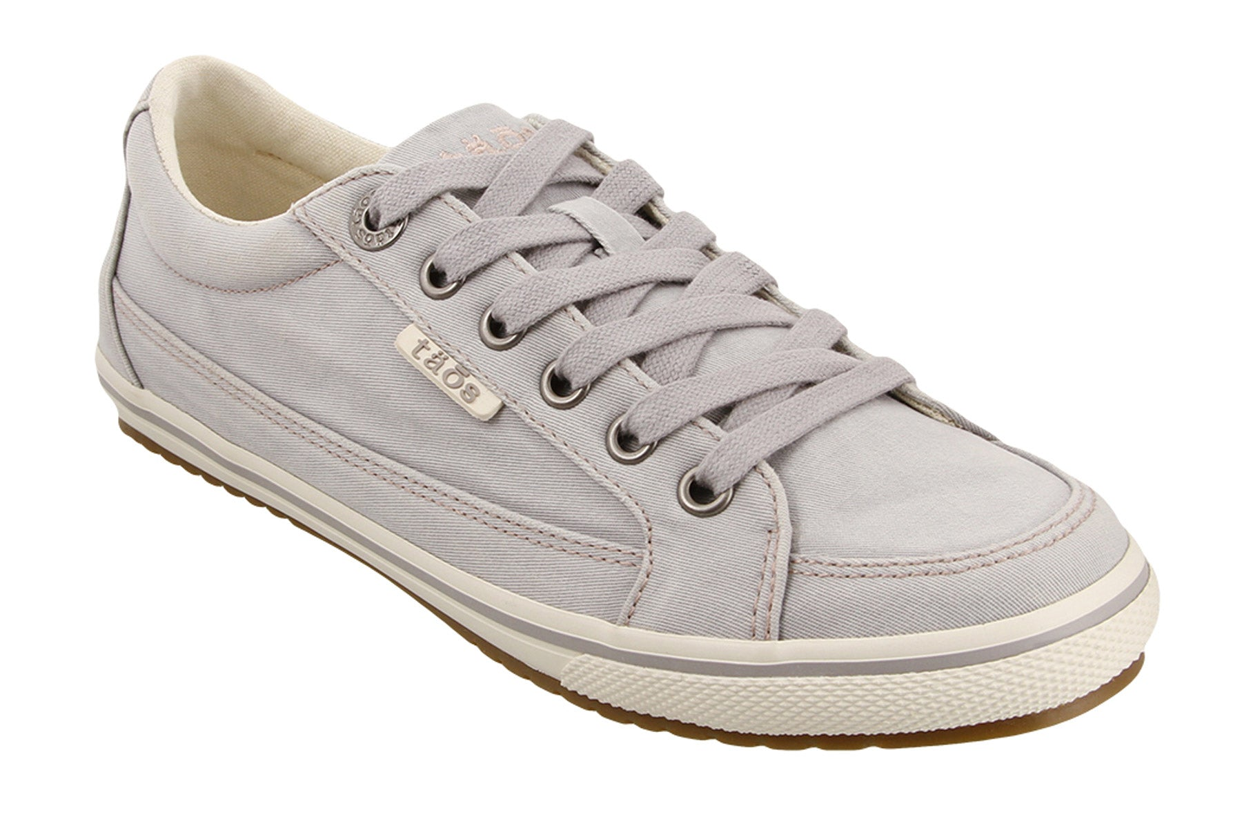Taos Footwear Womens Moc Star Light Grey Distressed Sneaker 10.5 M US
