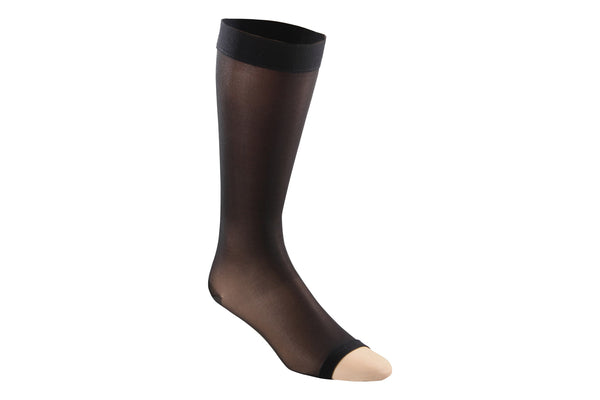 Sheer Moderate Open Toe Knee High