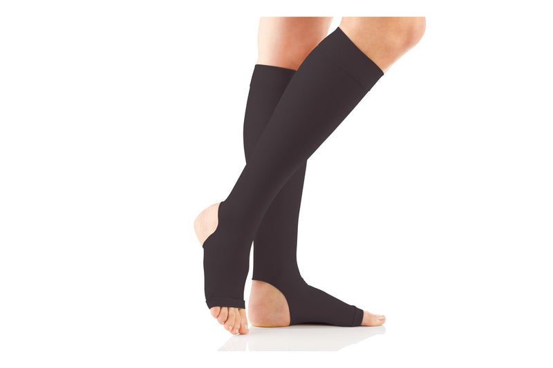 Premium Opq Firm Open Toe Full Calf Knee High