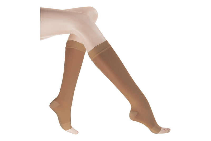 Premium Sheer Firm Open Toe Knee High