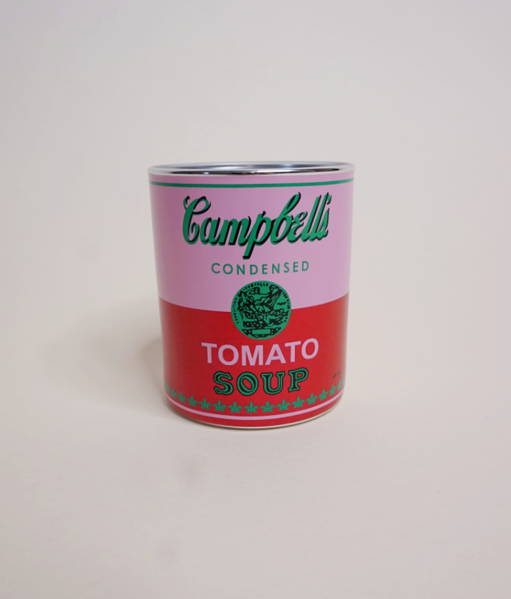 Andy Warhol Campbell's Soup Candle | Pink+Red