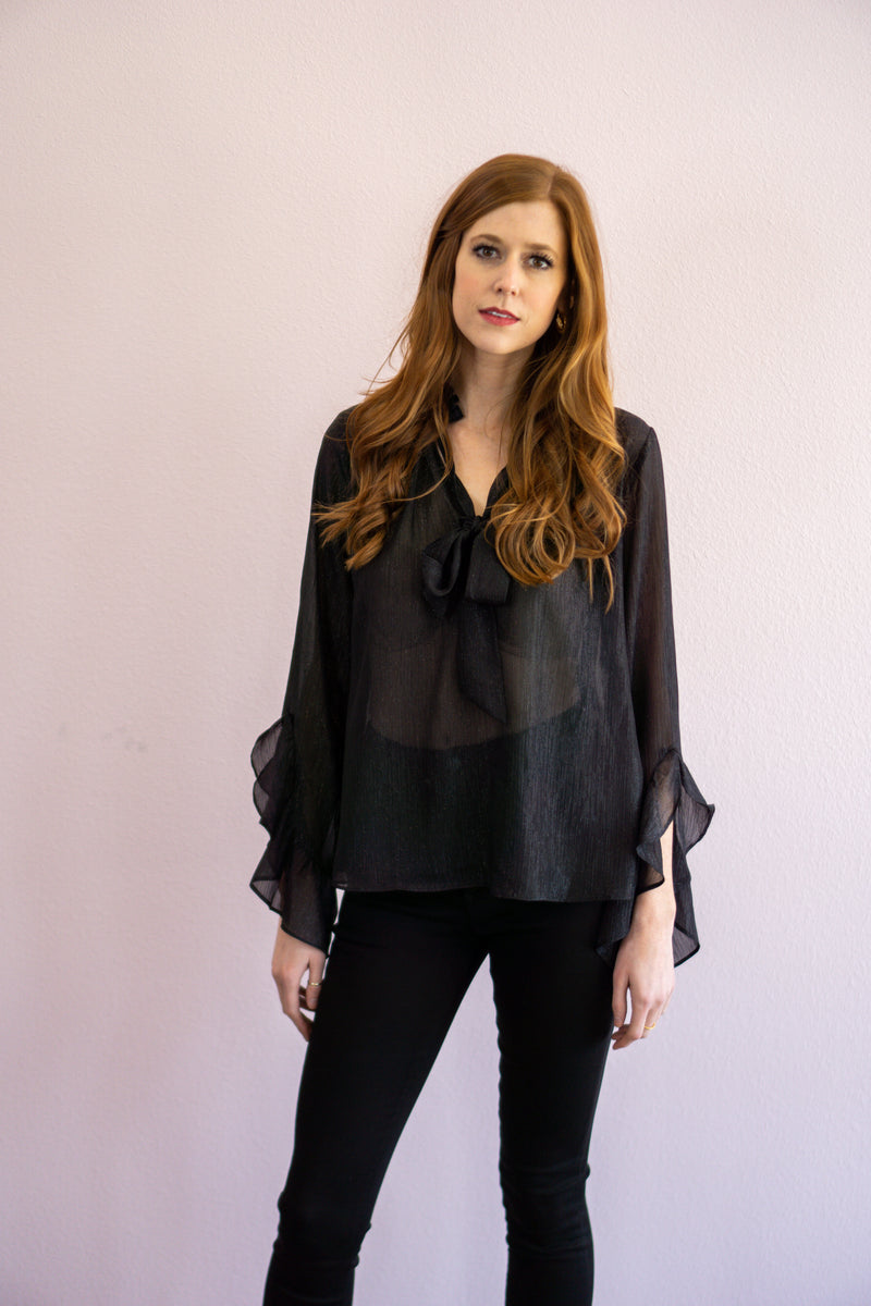 Pretty in Sheer Blouse