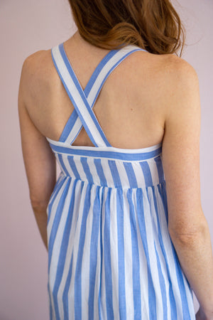 Belle Striped Maxi Dress