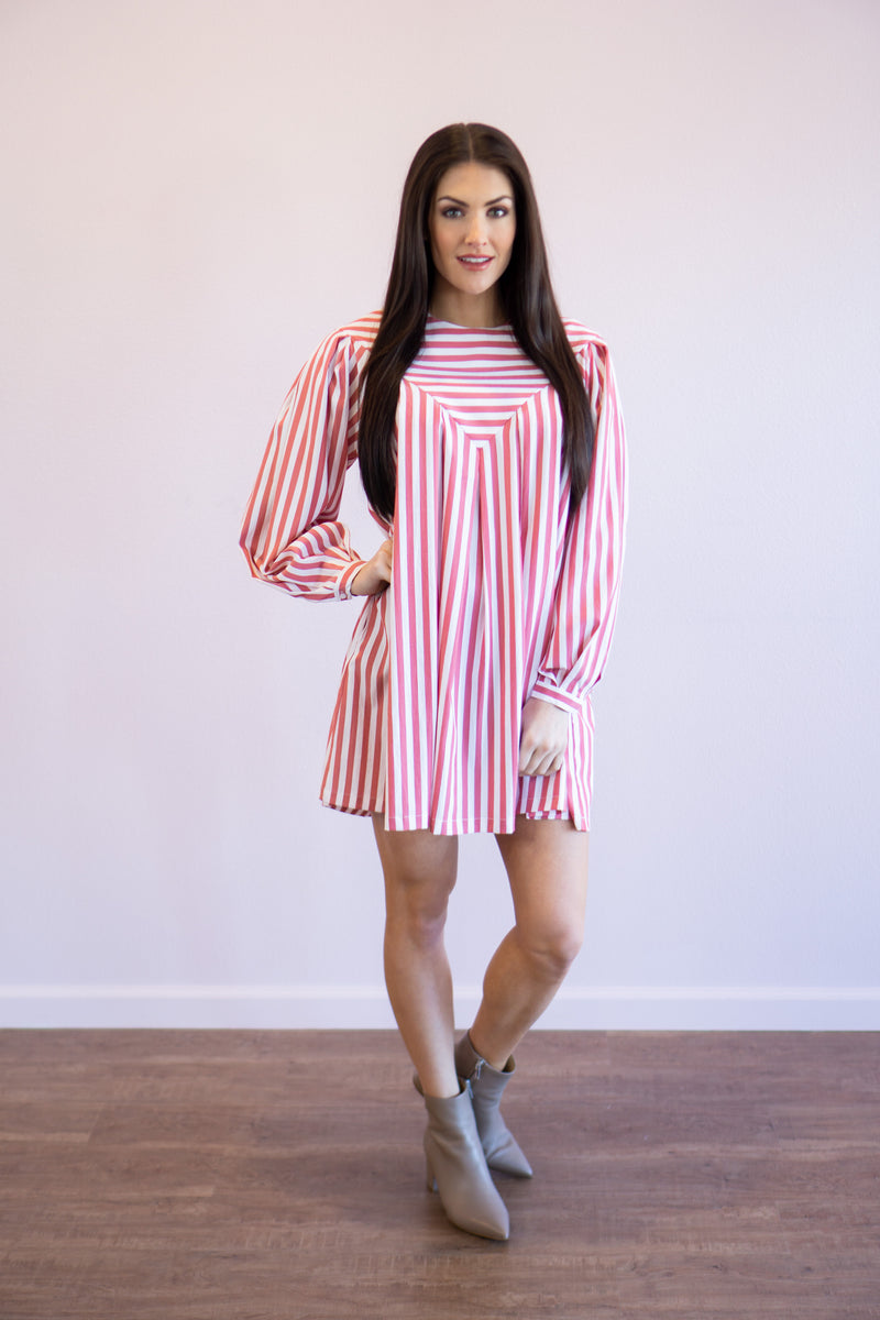 Fallon Striped Poplin Dress