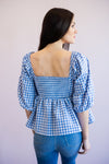 Savannah Gingham Blouse