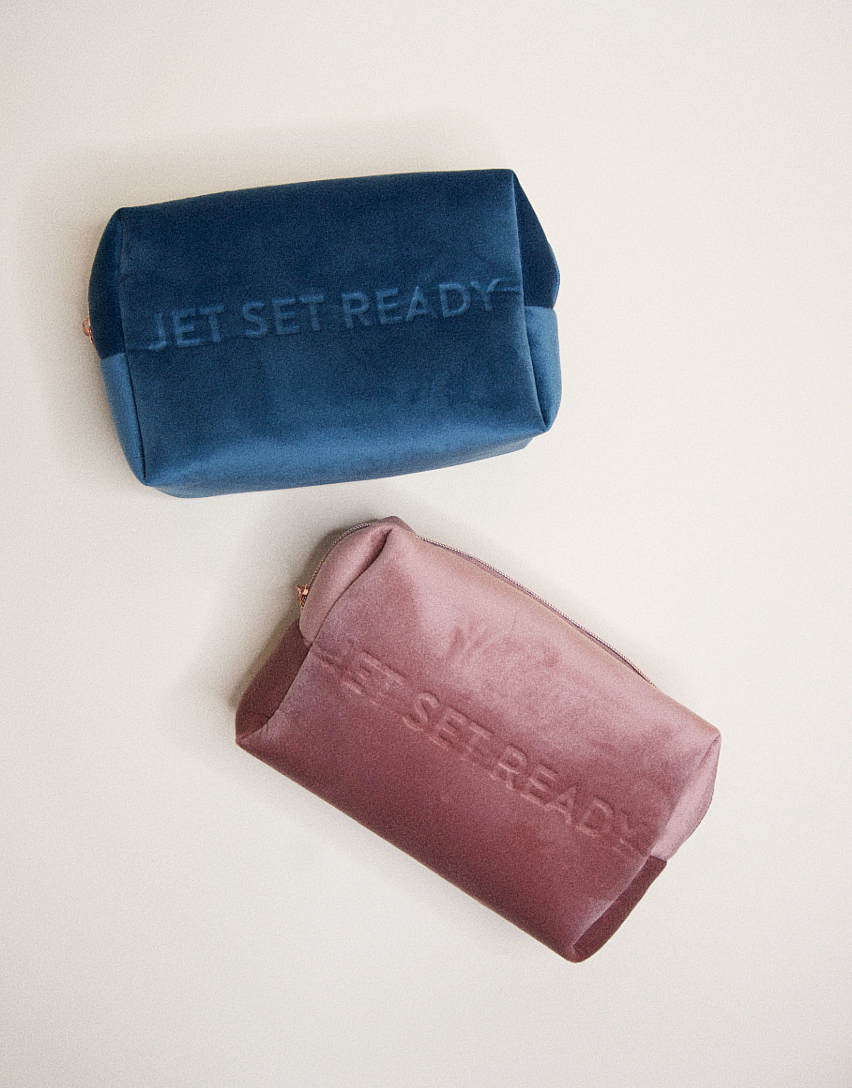 Jet Set Ready Make Up Bag | Rose