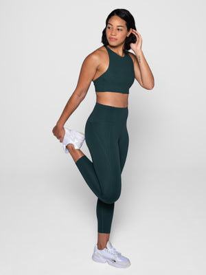 Compressive High-Rise Leggings Moss | Girlfriend Collective