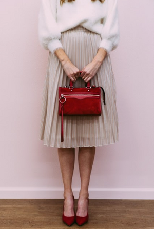 I Want Candy Striped Midi Skirt