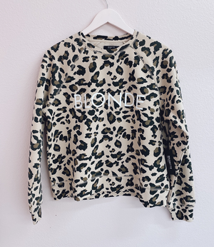 BLONDE Leopard Sweatshirt| Brunette The Label