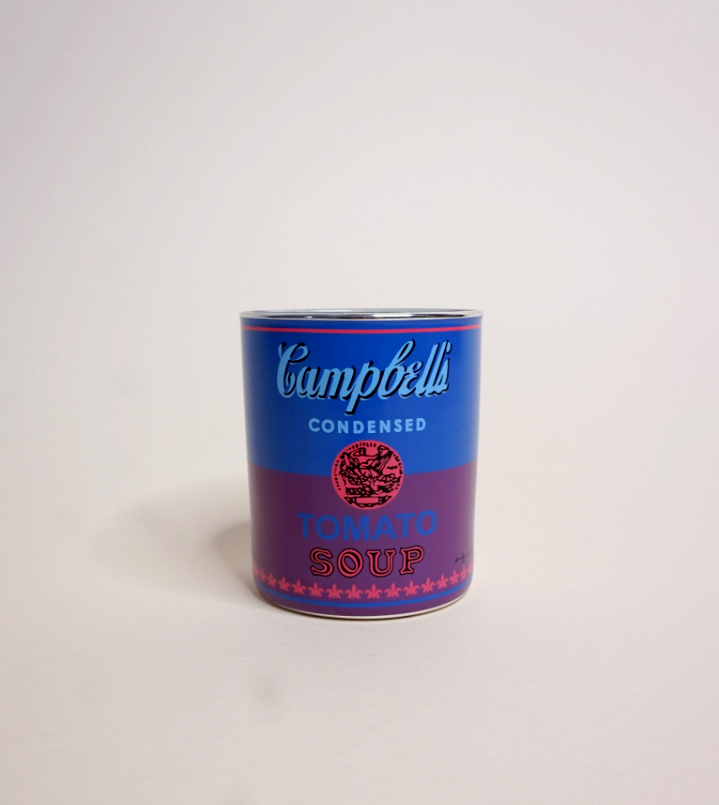 Andy Warhol Campbell's Soup Candle | Blue+Purple