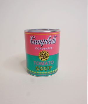 Andy Warhol Campbell's Soup Candle | Pink+Green
