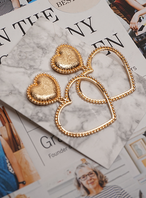 Gigi Gold Heart Earrings