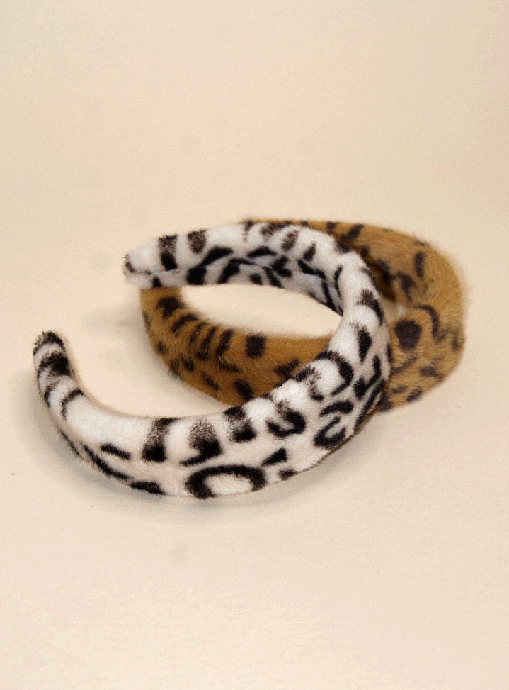 Faux Fur Leopard Headband | Cafe