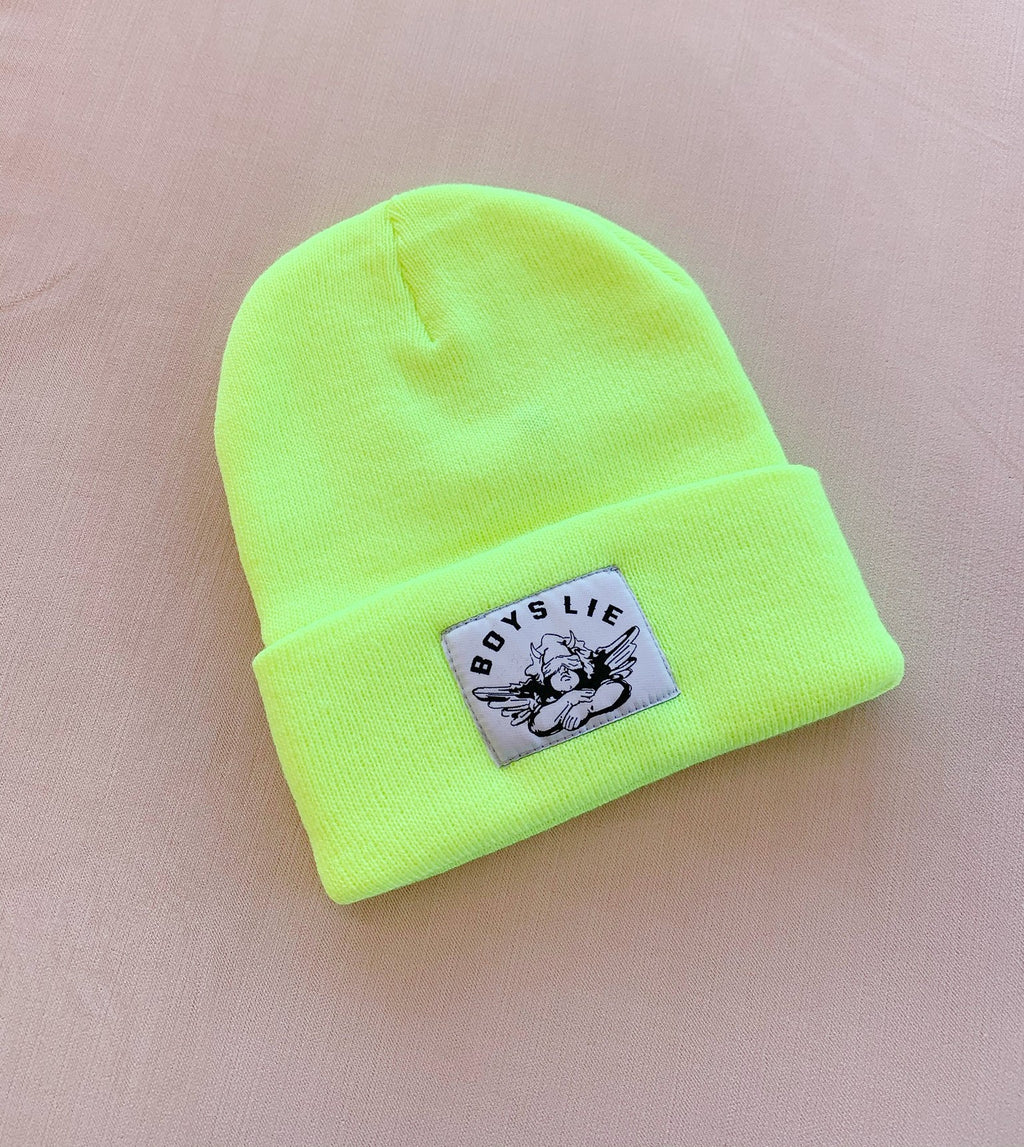 BOYS LIE Beanie | Neon Yellow