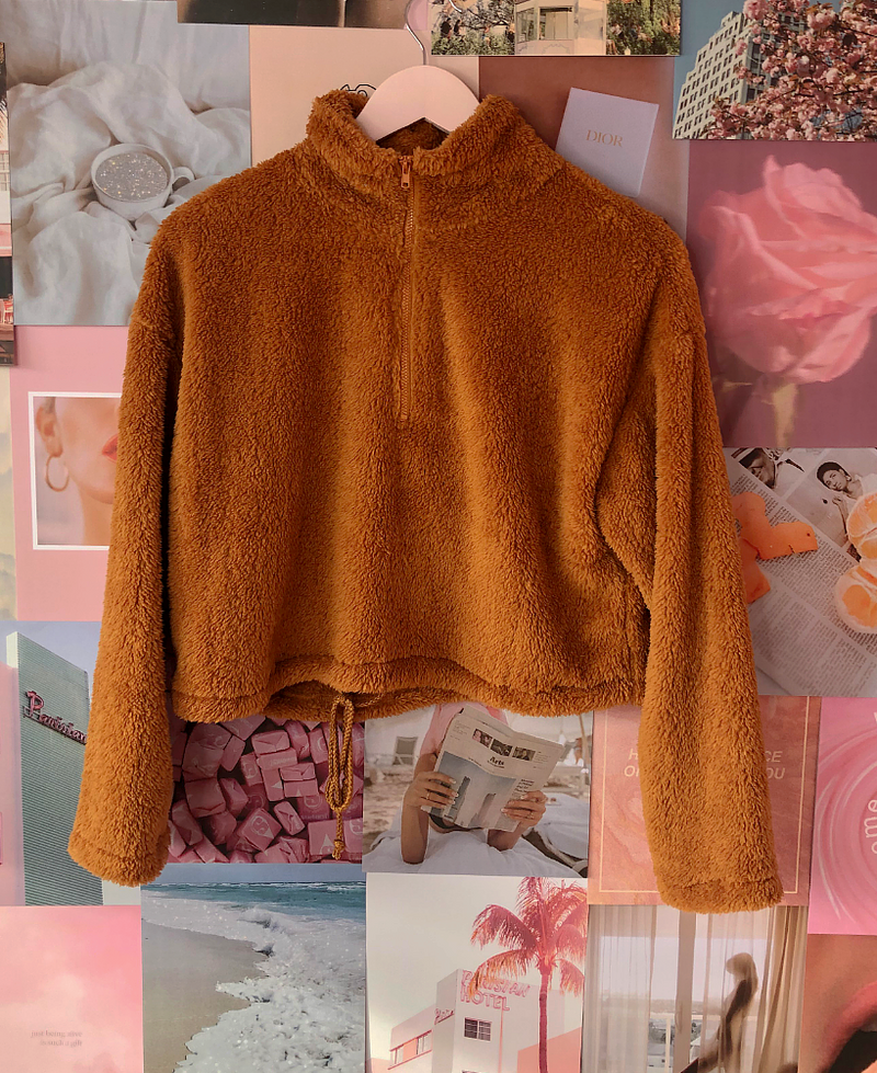 Staying In Teddy Pullover