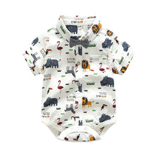 Load image into Gallery viewer, Noah - Romper Shirt and Shorts Outfit